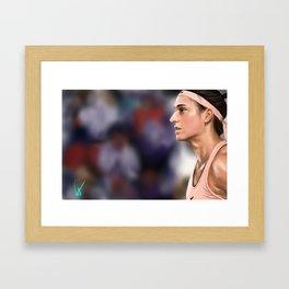 Caroline Garcia Framed Art Print