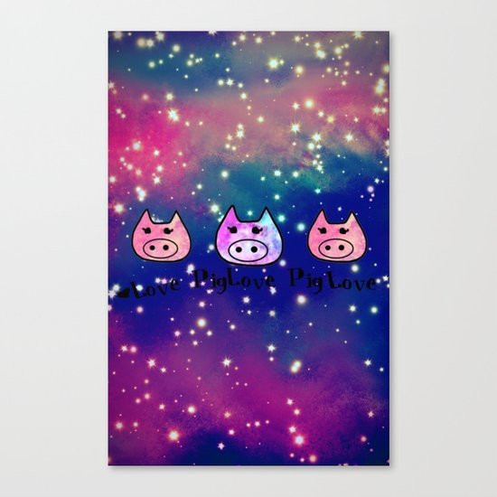 Pig-293 Canvas Print
