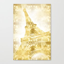 EIFFEL TOWER | golden painting Canvas Print