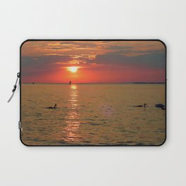 Swans in the Sunset Laptop Sleeve