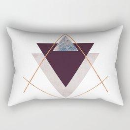 PLUM COPPER AND BLUSH GEOMETRIC Rectangular Pillow
