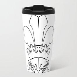 Fleur de Lis Outline Travel Mug