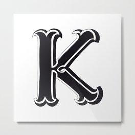 The Alphabetical Stuff - K Metal Print