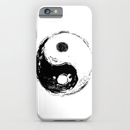 spiritual symbol yin yang iPhone Case