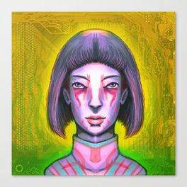 Tatau Tech Girl Debutante Canvas Print