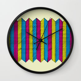 CMYK Optic Wall Clock