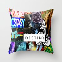 destiny Throw Pillows featuring Destiny by Aldo Couture