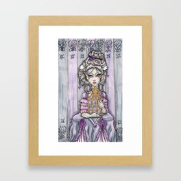 Violet the Rococo Girl Framed Art Print
