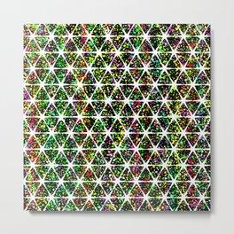 Star Pattern Colorful Metal Print