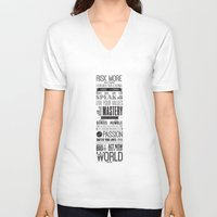 motivational V-neck T-shirts featuring Lab No. 4 - Robin Sharma Motivational Quotes Poster by Lab No. 4