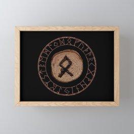 Othala Rune ancestral property, one's homeland or a sense of physical, mental, emotional, spiritual Framed Mini Art Print