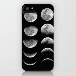 Phases (black) iPhone Case
