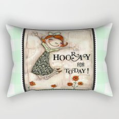 Hooray for Today - by Diane Duda Rectangular Pillow