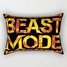 Beast Mode Fired Up Rectangular Pillow