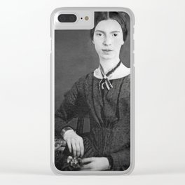 Emily Dickinson Portrait Clear iPhone Case