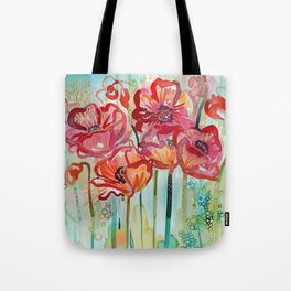 River Poppies Tote Bag