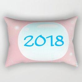 2018 Christmas And New Year Rectangular Pillow