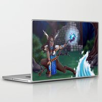 arya Laptop & iPad Skins featuring Guardian of The Forest by Sara Poveda
