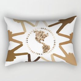 Peace of Earth In Our Hands Rectangular Pillow