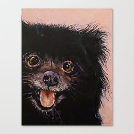 Black Pomeranian Canvas Print