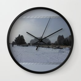 The Blowing Cold Wall Clock