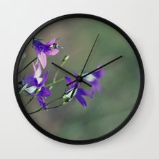 BlueBell Flower Nature Photography  Wall Clock