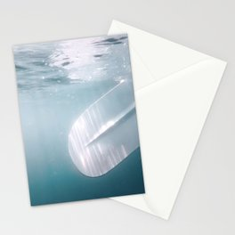 Underwater Paddle, Sand up Paddle Boarding Underwater View. Stationery Cards
