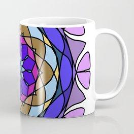 Pretty multicolor floral sun triangle mandala Coffee Mug