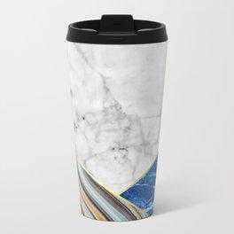 White Marble Blue Marble & Blue Granite #167 Travel Mug