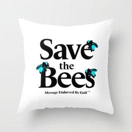 SAVE THE BEES - GOLF WANG Throw Pillow