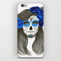 sugar skull iPhone & iPod Skins featuring Sugar Skull by Lidiane Dutra