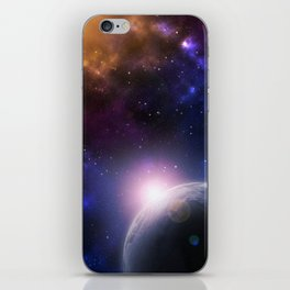 Colorful Journey In Space iPhone Skin