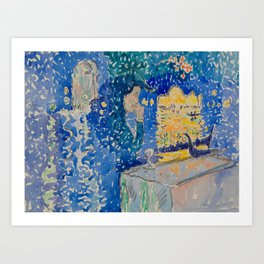 Venice Night of the Festival of the Redeemer Henri-Edmond Cross Neo-Impressionism Pointillism Art Print