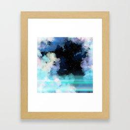 Evolve In Blue Framed Art Print