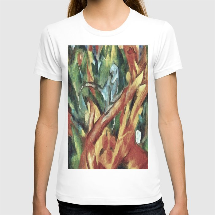 Monkey After Franz Marc, 1912 T-shirt