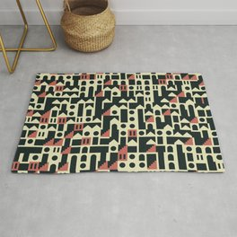 Abstract Geometric Artwork 101 Rug