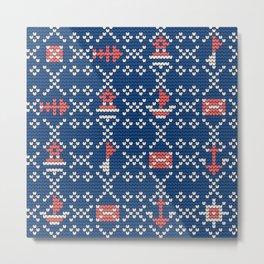 Grandma's knitting pattern for Saylor's Ugly sweater #2 Metal Print