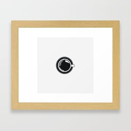 Cup of coffee with stars Framed Art Print