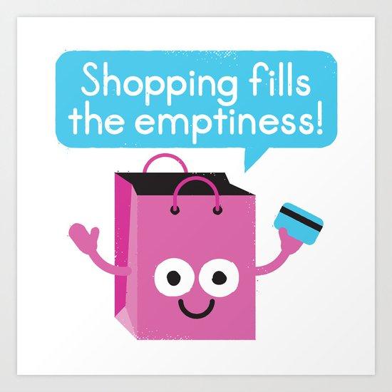 Retail Therapy Art Print