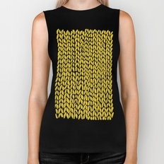 Hand Knit Yellow Biker Tank