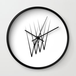 """"""" Eclipse Collection"""" - Minimal Letter V Print Wall Clock"""