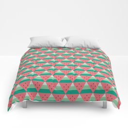 Geometric Summer Watermelon Comforters