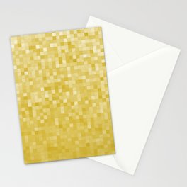 Pixels Gradient Pattern in Yellow Stationery Cards