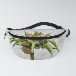 Thistle bud and snail Fanny Pack