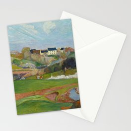Paul Gauguin - Landscape at Le Pouldu Stationery Cards