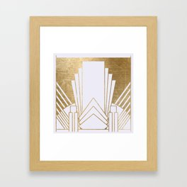 Art Deco design - blonde Framed Art Print