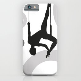 Trapeze Rings black and white iPhone Case