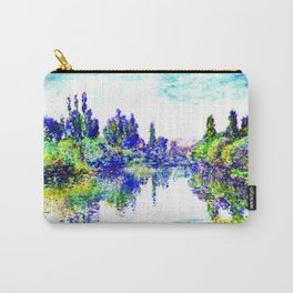 Claude Monet - Morning on the Seine, near Vetheuil 1878 Carry-All Pouch