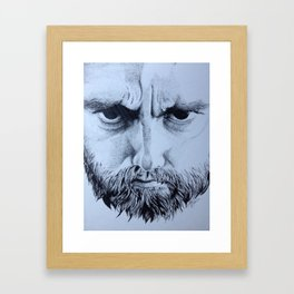Bearded man Framed Art Print