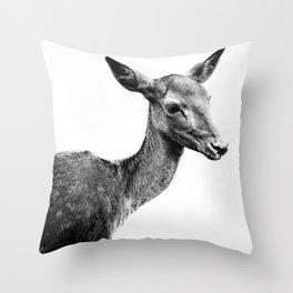 Deer portrait Throw Pillow